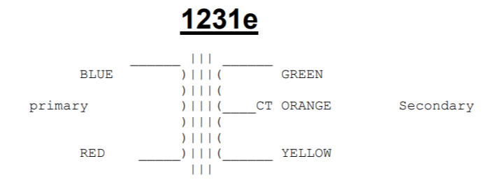 1231 connection colour code