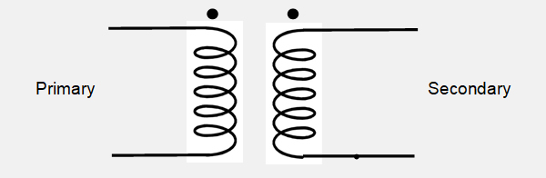 What do the dots on a transformer diagram mean?