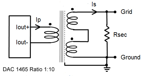 Wiring diagram for DAC transformer