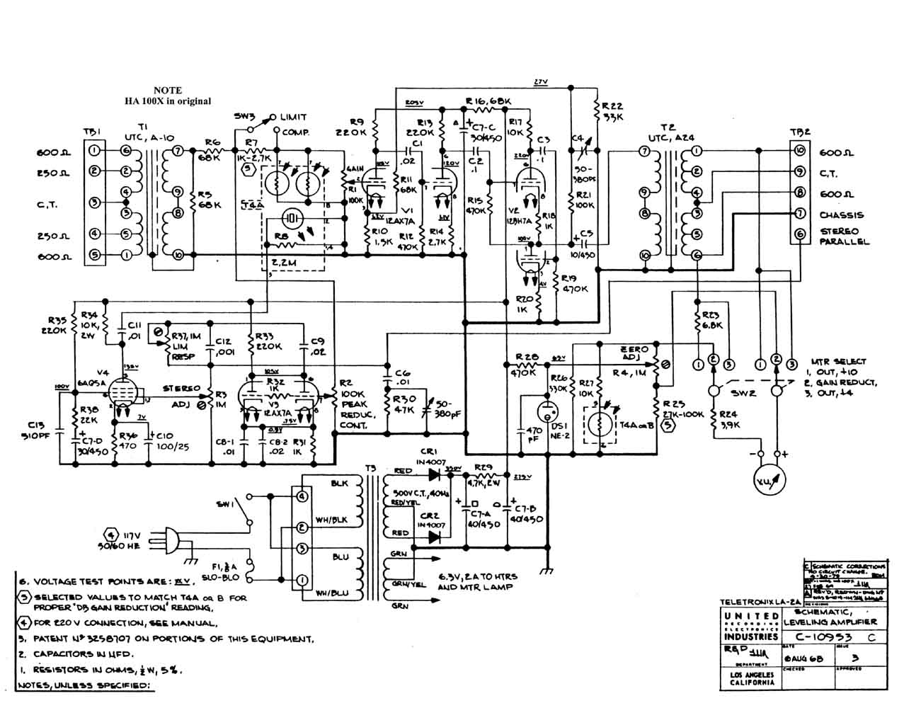 Sowter Vintage Audio Transformers Fac Compressor Wiring Diagram 150